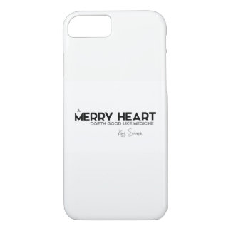 QUOTES: King Solomon: A merry heart iPhone 8/7 Case