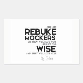 QUOTES: King Solomon: Rebuke the wise Sticker