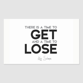 QUOTES: King Solomon: Time to get, time to lose Sticker