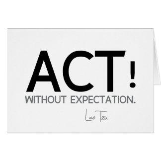 QUOTES: Lao Tzu: Act! Card