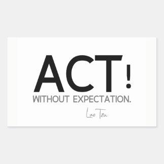 QUOTES: Lao Tzu: Act! Sticker