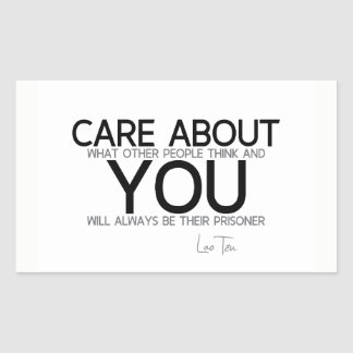QUOTES: Lao Tzu: Care about you Sticker