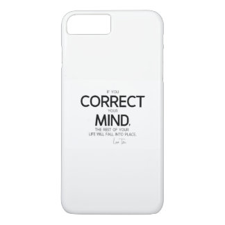 QUOTES: Lao Tzu: Correct your mind iPhone 8 Plus/7 Plus Case