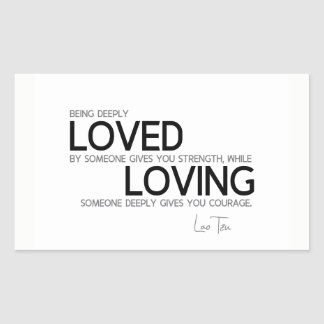 QUOTES: Lao Tzu: Deeply loved Sticker