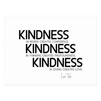 QUOTES: Lao Tzu: Kindness Postcard