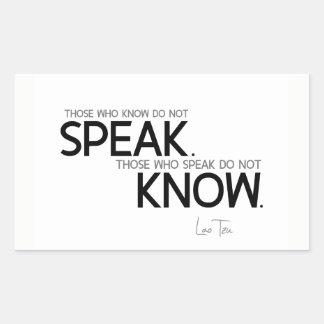 QUOTES: Lao Tzu: Know, speak Sticker