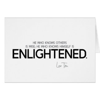 QUOTES: Lao Tzu: Know, wise, enlightened Card