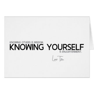 QUOTES: Lao Tzu: Knowing yourself Card