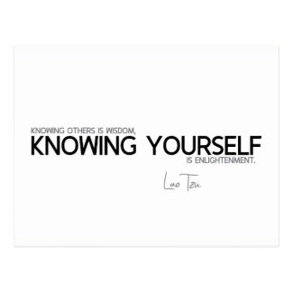 QUOTES: Lao Tzu: Knowing yourself Postcard