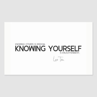 QUOTES: Lao Tzu: Knowing yourself Sticker