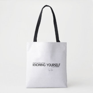 QUOTES: Lao Tzu: Knowing yourself Tote Bag