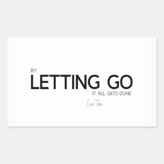 QUOTES: Lao Tzu: Letting go Sticker