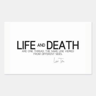 QUOTES: Lao Tzu: Life and death Sticker