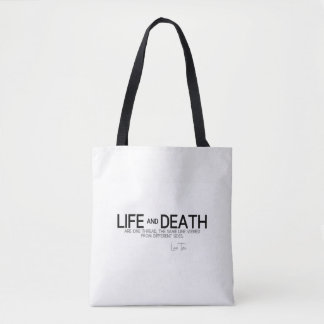 QUOTES: Lao Tzu: Life and death Tote Bag