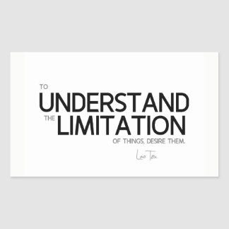 QUOTES: Lao Tzu: Limitation of things Sticker