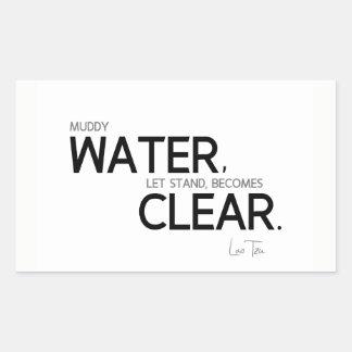 QUOTES: Lao Tzu: Muddy water Sticker
