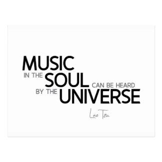 QUOTES: Lao Tzu: Music is soul Postcard
