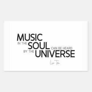 QUOTES: Lao Tzu: Music is soul Sticker