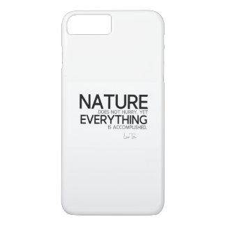 QUOTES: Lao Tzu: Nature, accomplished iPhone 8 Plus/7 Plus Case