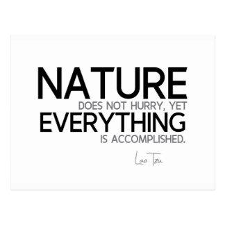 QUOTES: Lao Tzu: Nature, accomplished Postcard