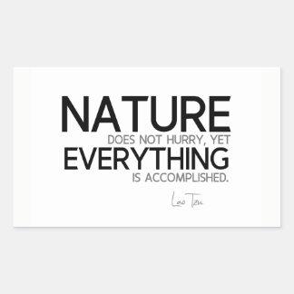QUOTES: Lao Tzu: Nature, accomplished Sticker