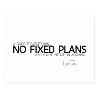 QUOTES: Lao Tzu: No fixed plans Postcard