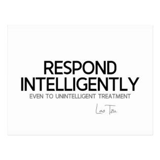 QUOTES: Lao Tzu: Respond intelligence Postcard
