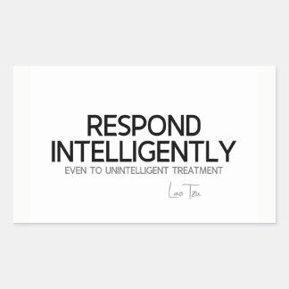 QUOTES: Lao Tzu: Respond intelligence Sticker