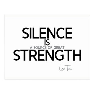 QUOTES: Lao Tzu: Silence, strength Postcard
