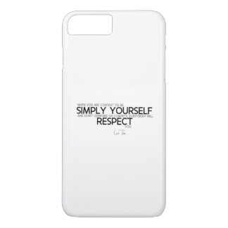 QUOTES: Lao Tzu: Simply yourself Case-Mate iPhone Case