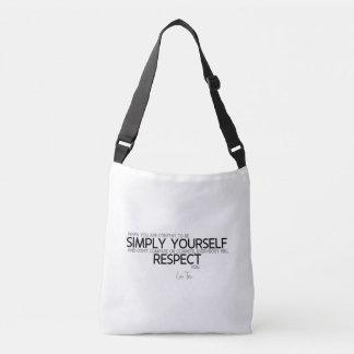 QUOTES: Lao Tzu: Simply yourself Crossbody Bag