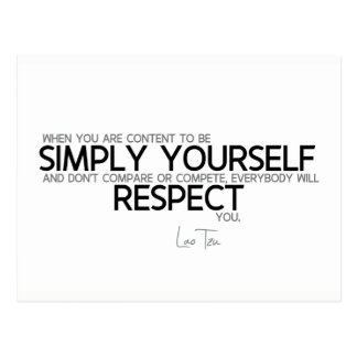 QUOTES: Lao Tzu: Simply yourself Postcard