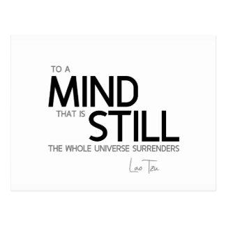 QUOTES: Lao Tzu: Still mind Postcard