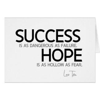 QUOTES: Lao Tzu: Success, hope Card