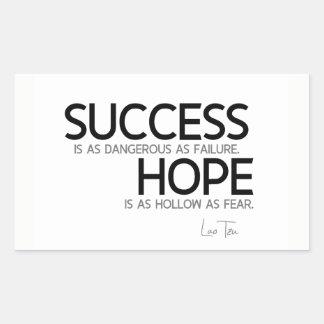 QUOTES: Lao Tzu: Success, hope Sticker