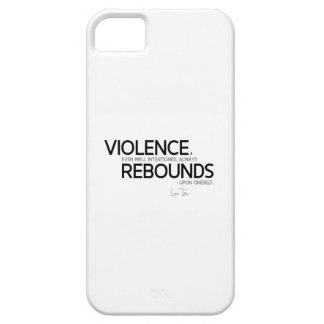 QUOTES: Lao Tzu: Violence rebounds iPhone 5 Case
