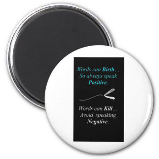 """""""QUOTES~N~ MOTION"""" GEAR WEAR 25 by CARA G. RHODES Magnet"""