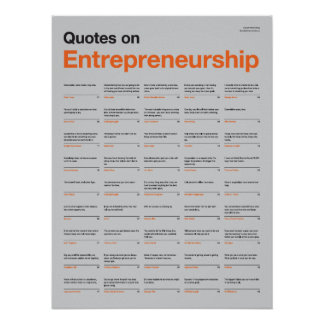 Quotes on Entrepreneurship Poster - Grey Edition