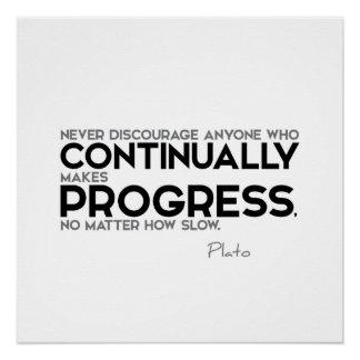 QUOTES: Plato: Continually Progress Poster