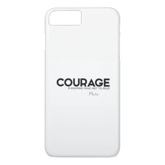 QUOTES: Plato: Courage, fear Case-Mate iPhone Case