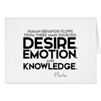 QUOTES: Plato: Desire, emotion, and knowledge Card