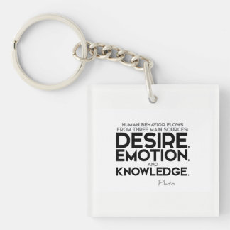 QUOTES: Plato: Desire, emotion, and knowledge Keychain