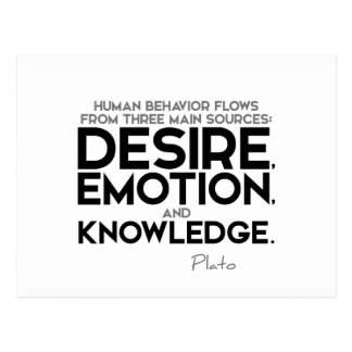 QUOTES: Plato: Desire, emotion, and knowledge Postcard
