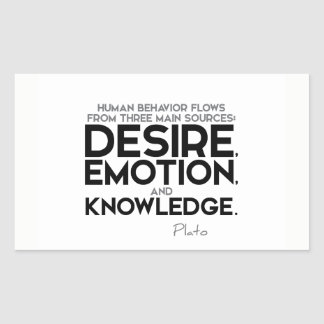 QUOTES: Plato: Desire, emotion, and knowledge Sticker
