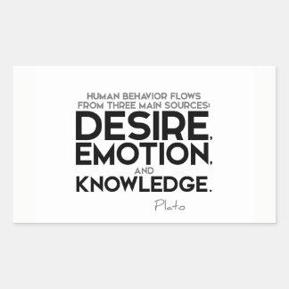 QUOTES: Plato: Desire, emotion, and knowledge Sticker