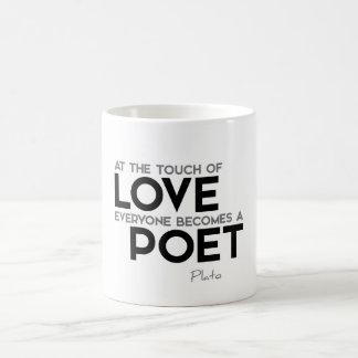 QUOTES: Plato - Love, poet Coffee Mug