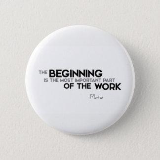 QUOTES: Plato: The beginning, work 2 Inch Round Button