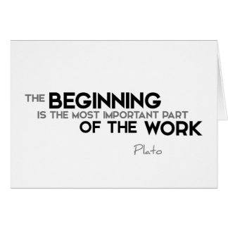 QUOTES: Plato: The beginning, work Card