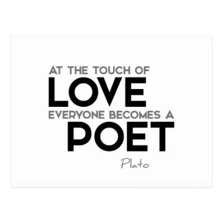 QUOTES: Plato: Touch of love: poet Postcard