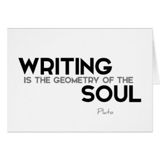 QUOTES: Plato: Writing, soul Card